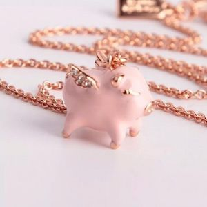 RARE Kate Spade Flying pig necklace